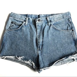 Vintage Wrangler High Waisted Distressed Shorts